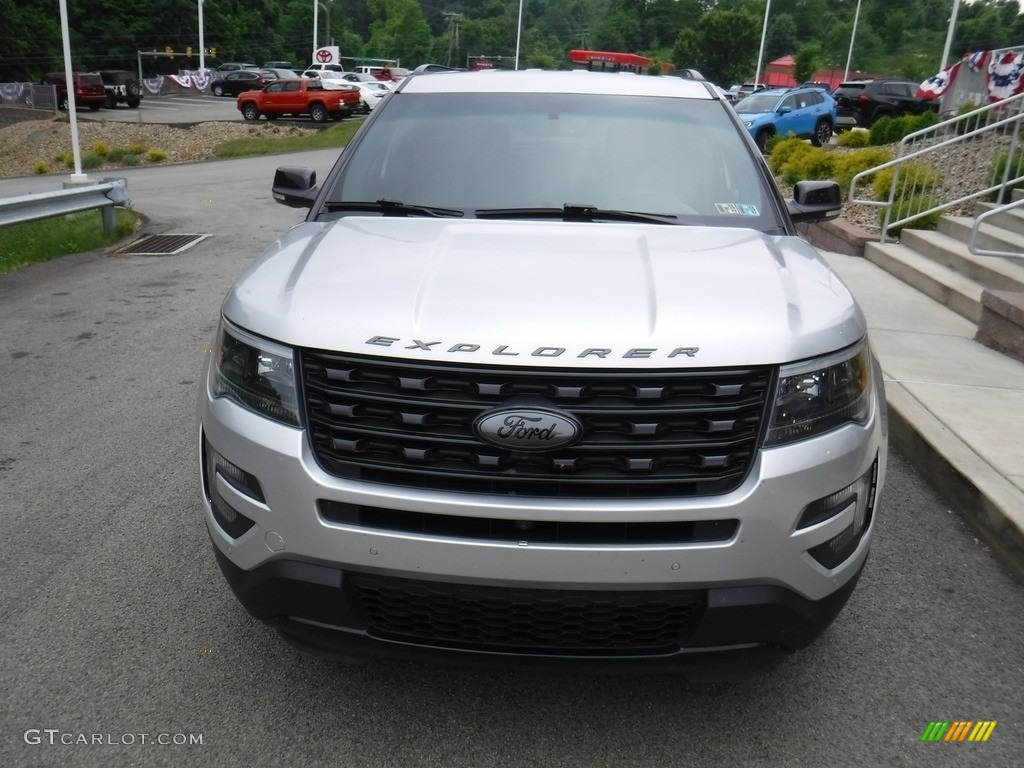 2016 Explorer Sport 4WD - Ingot Silver Metallic / Ebony Black photo #2