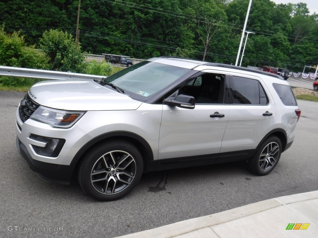 2016 Explorer Sport 4WD - Ingot Silver Metallic / Ebony Black photo #4