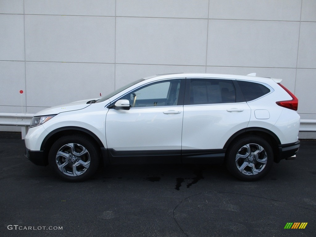 2017 CR-V EX-L AWD - White Diamond Pearl / Ivory photo #2
