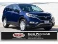 2016 Obsidian Blue Pearl Honda CR-V EX-L  photo #1