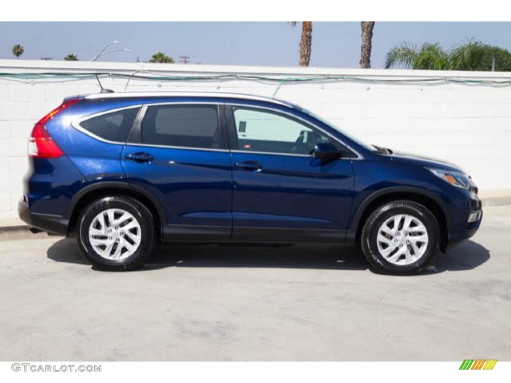 2016 CR-V EX-L - Obsidian Blue Pearl / Gray photo #10
