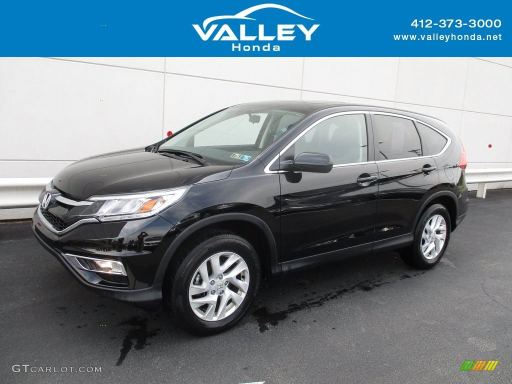 2016 CR-V EX AWD - Crystal Black Pearl / Black photo #1