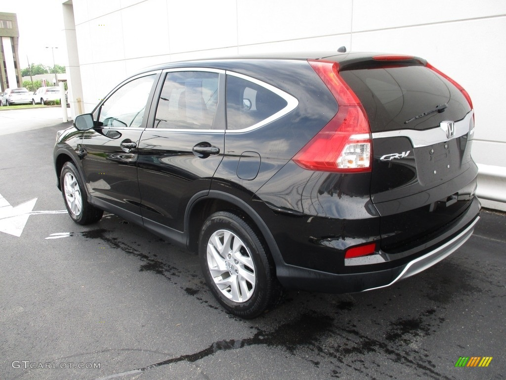 2016 CR-V EX AWD - Crystal Black Pearl / Black photo #3