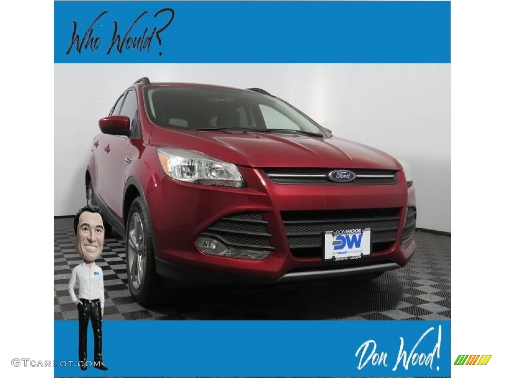2014 Escape SE 1.6L EcoBoost 4WD - Ruby Red / Charcoal Black photo #1