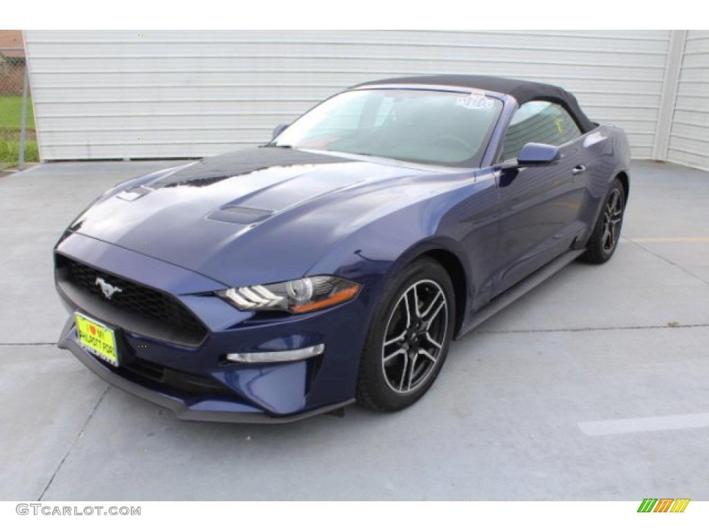 2018 Mustang EcoBoost Premium Convertible - Kona Blue / Ebony photo #4
