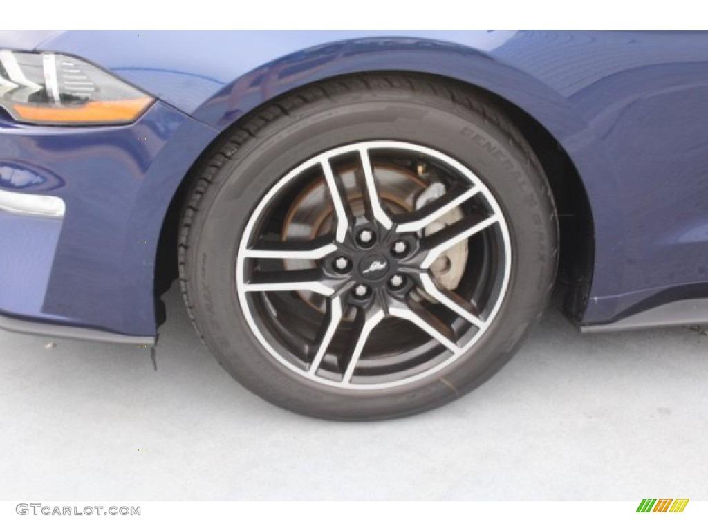 2018 Mustang EcoBoost Premium Convertible - Kona Blue / Ebony photo #5