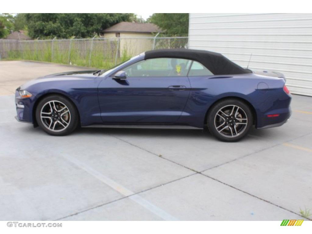 2018 Mustang EcoBoost Premium Convertible - Kona Blue / Ebony photo #6
