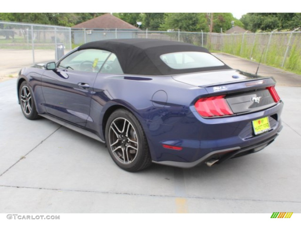 2018 Mustang EcoBoost Premium Convertible - Kona Blue / Ebony photo #7