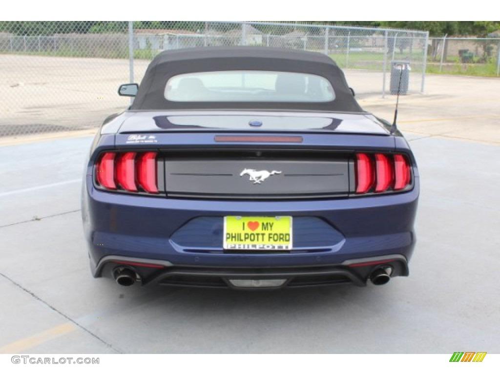 2018 Mustang EcoBoost Premium Convertible - Kona Blue / Ebony photo #8