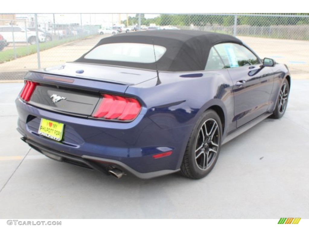 2018 Mustang EcoBoost Premium Convertible - Kona Blue / Ebony photo #9