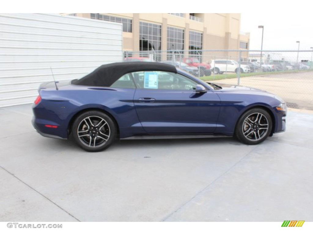 2018 Mustang EcoBoost Premium Convertible - Kona Blue / Ebony photo #10