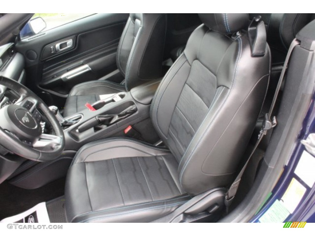 2018 Mustang EcoBoost Premium Convertible - Kona Blue / Ebony photo #12
