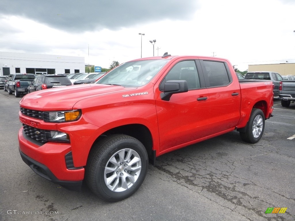 2019 Silverado 1500 Custom Crew Cab 4WD - Red Hot / Jet Black photo #1