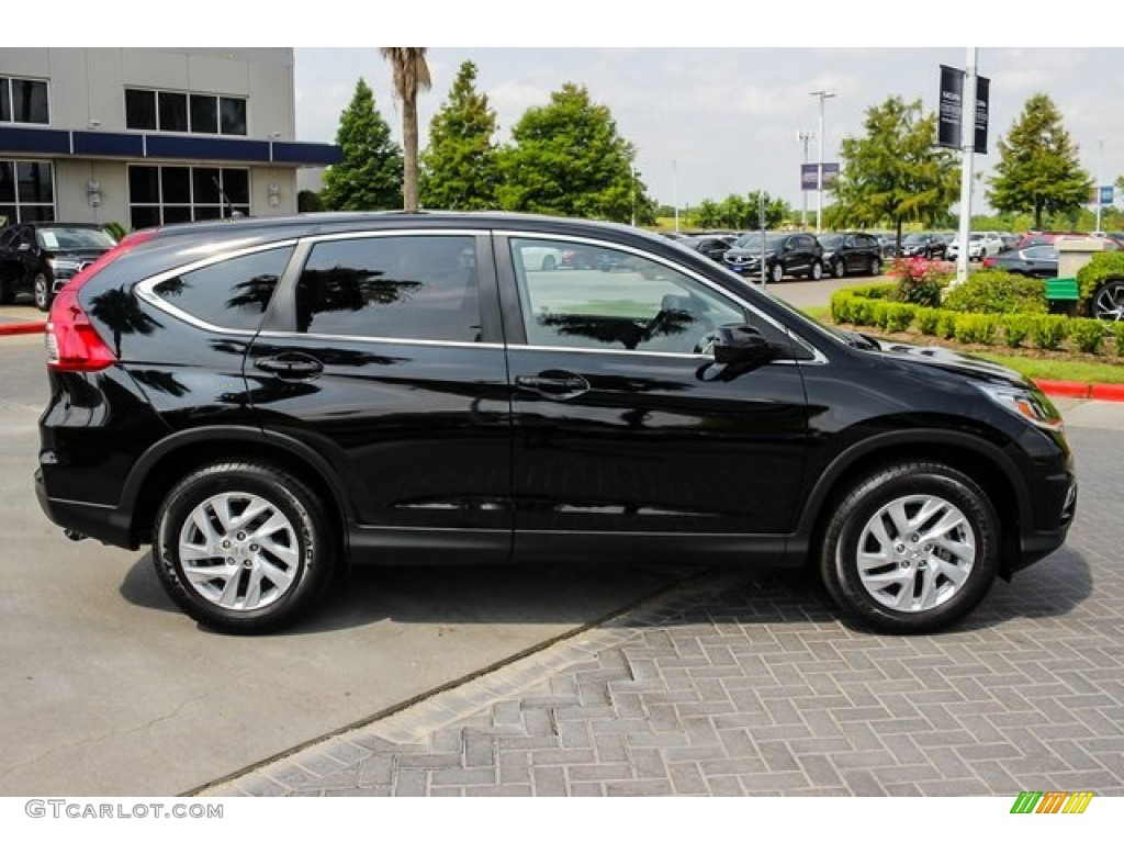 2016 CR-V EX - Crystal Black Pearl / Black photo #8