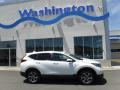 2017 White Diamond Pearl Honda CR-V EX AWD  photo #2