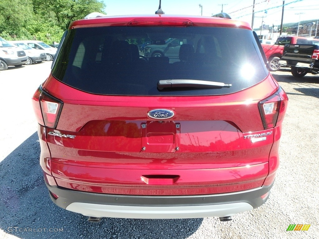 2019 Escape Titanium 4WD - Ruby Red / Chromite Gray/Charcoal Black photo #3