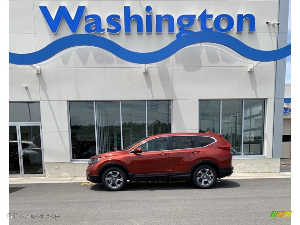 2019 CR-V EX-L - Basque Red Pearl II / Ivory photo #1