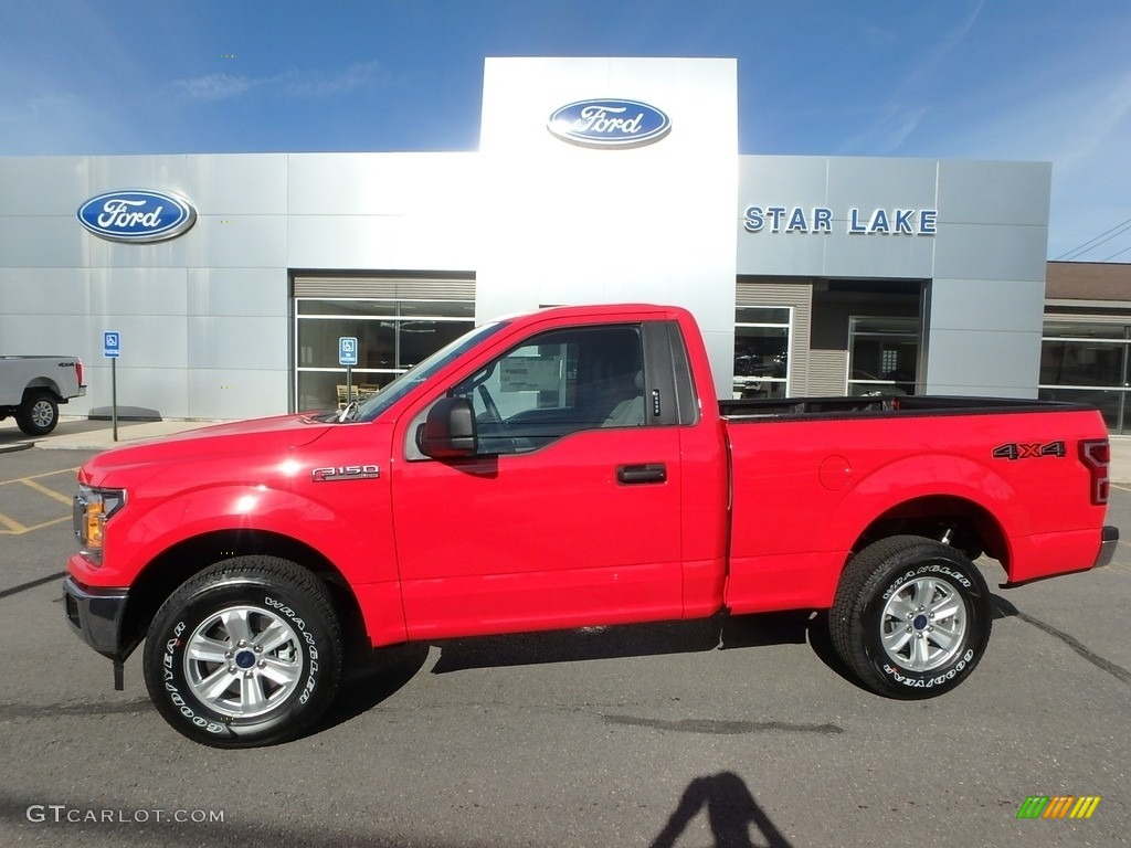2019 F150 XLT Regular Cab 4x4 - Race Red / Earth Gray photo #1