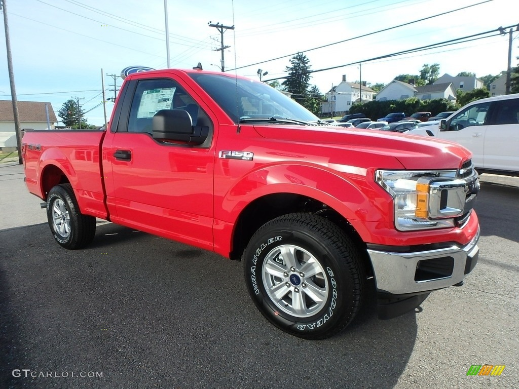 2019 F150 XLT Regular Cab 4x4 - Race Red / Earth Gray photo #3