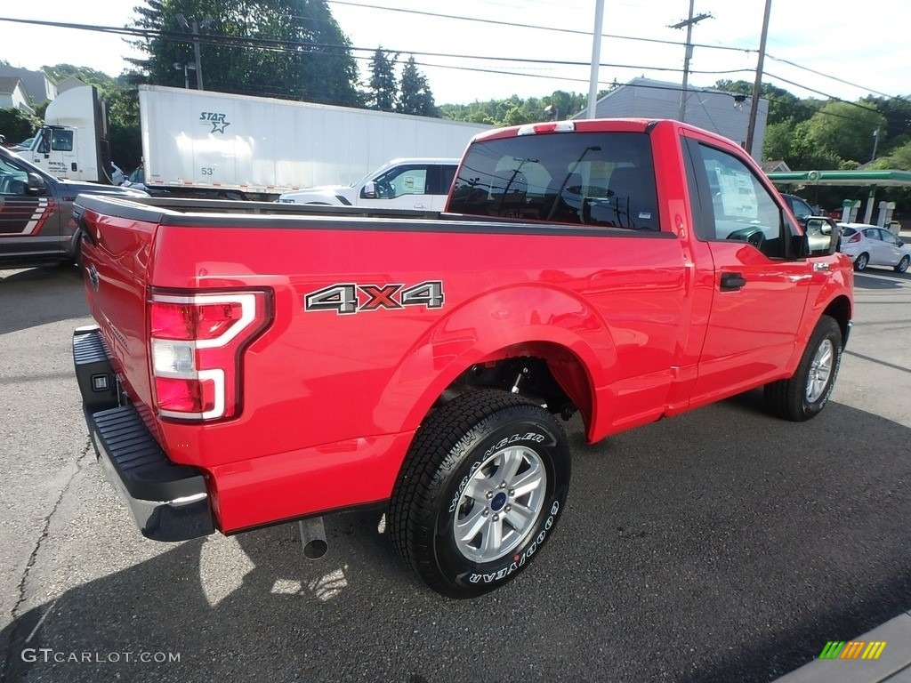 2019 F150 XLT Regular Cab 4x4 - Race Red / Earth Gray photo #8