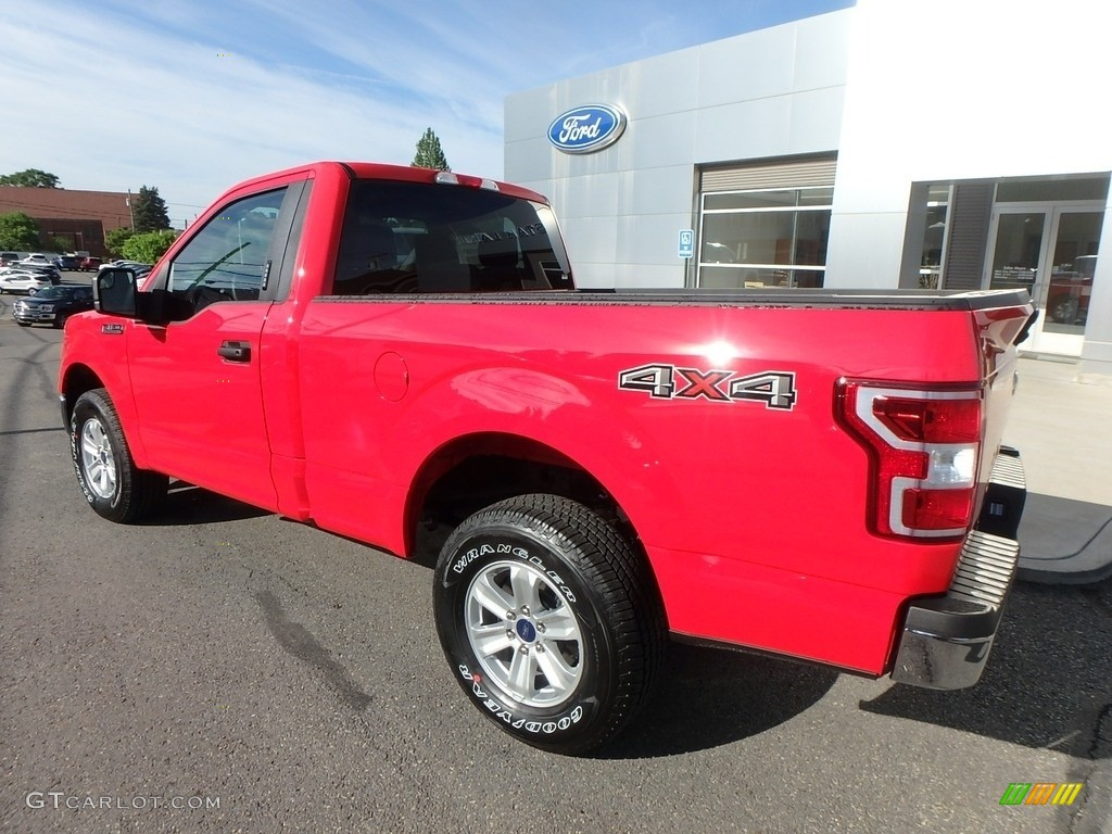 2019 F150 XLT Regular Cab 4x4 - Race Red / Earth Gray photo #10