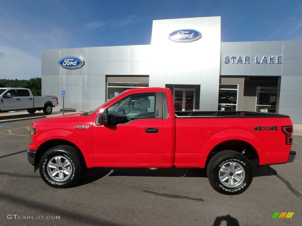 2019 F150 XLT Regular Cab 4x4 - Race Red / Earth Gray photo #11