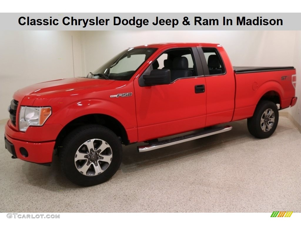 2014 F150 STX SuperCab 4x4 - Race Red / Steel Grey photo #1