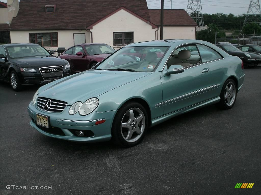 2004 ice blue metallic mercedes benz clk 500 coupe for 2004 mercedes benz clk 500