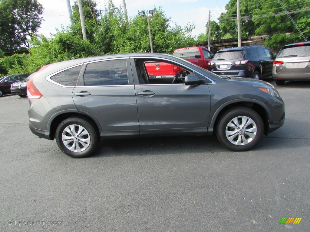 2013 CR-V EX AWD - Polished Metal Metallic / Gray photo #5