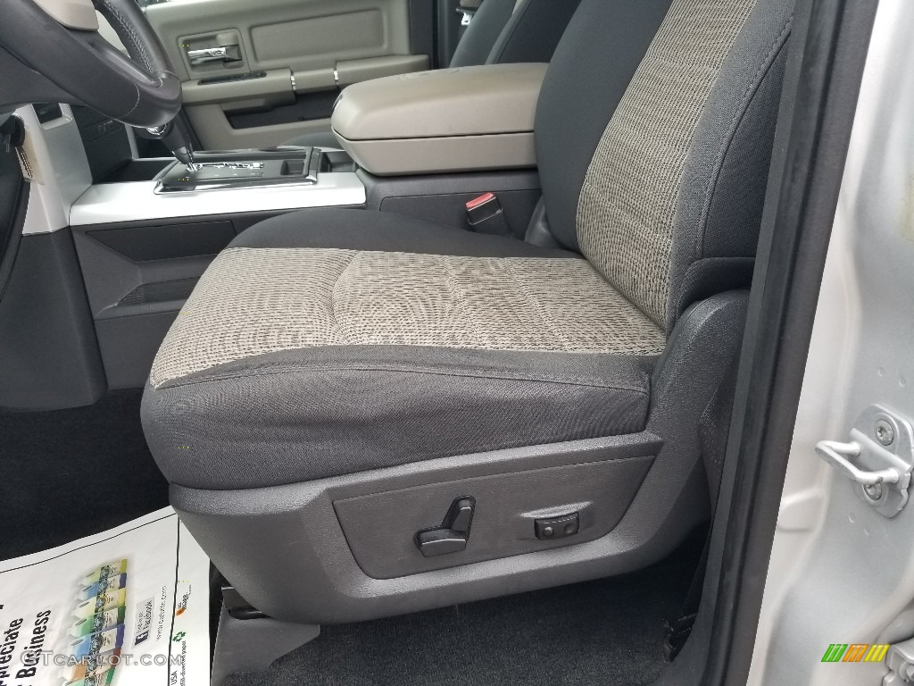 2012 Ram 1500 SLT Crew Cab 4x4 - Bright Silver Metallic / Dark Slate Gray/Medium Graystone photo #16