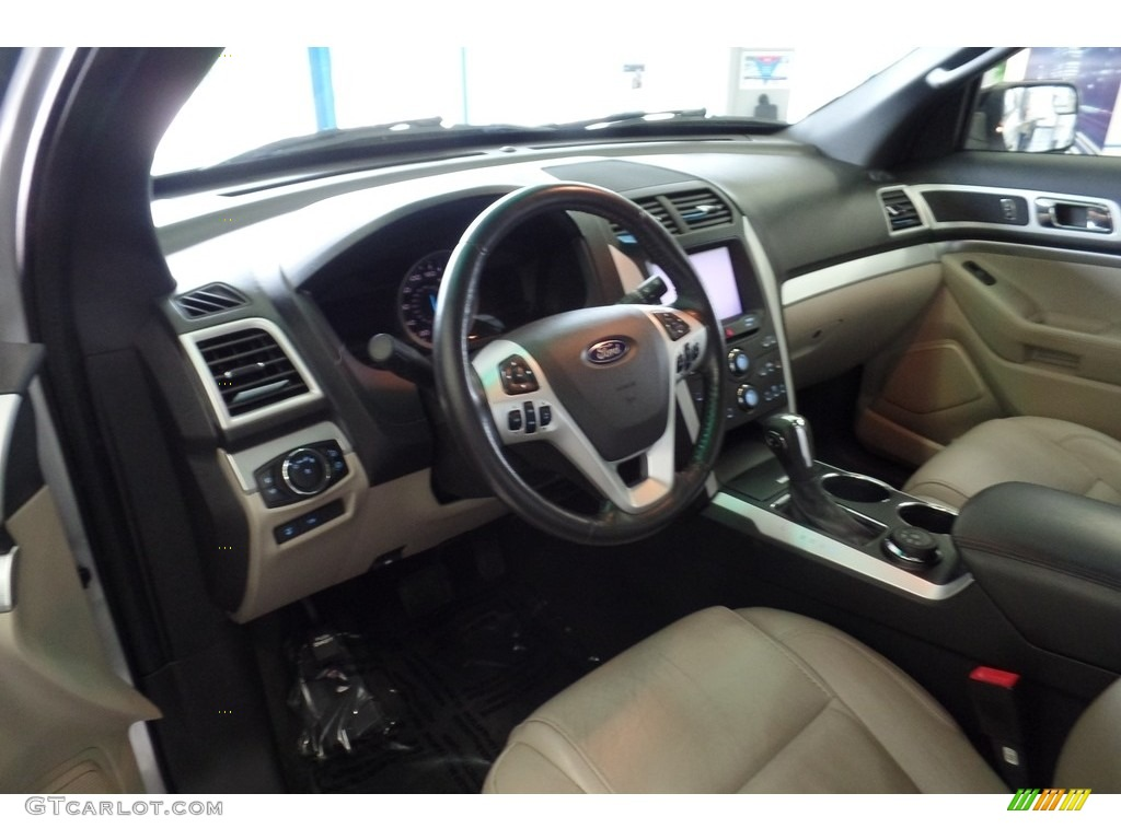 2013 Explorer XLT 4WD - Ingot Silver Metallic / Charcoal Black photo #15