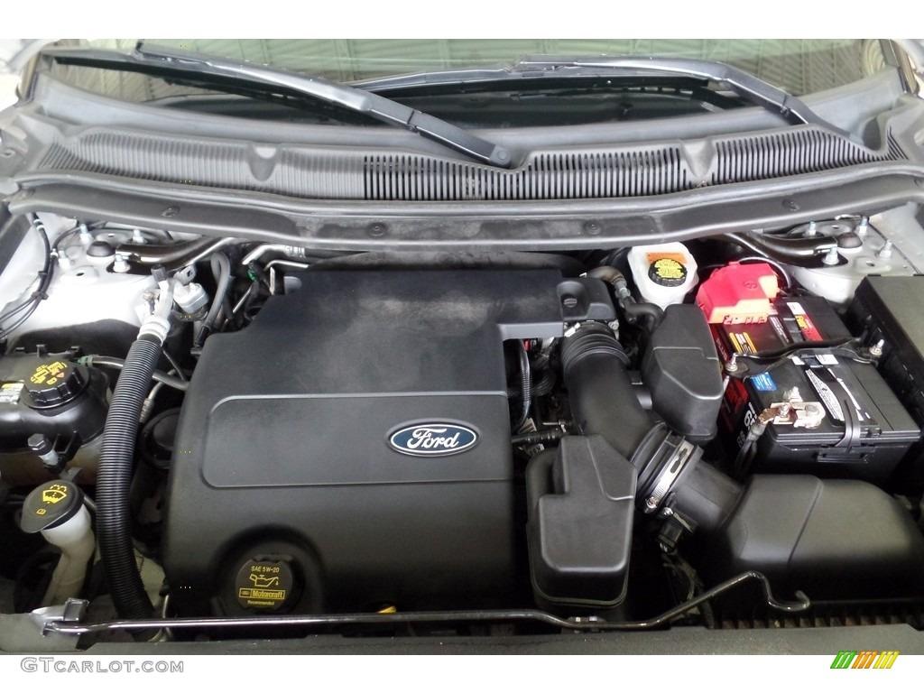 2013 Explorer XLT 4WD - Ingot Silver Metallic / Charcoal Black photo #39