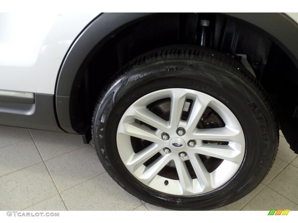 2013 Explorer XLT 4WD - Ingot Silver Metallic / Charcoal Black photo #41