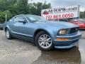 2005 Windveil Blue Metallic Ford Mustang V6 Deluxe Coupe  photo #2