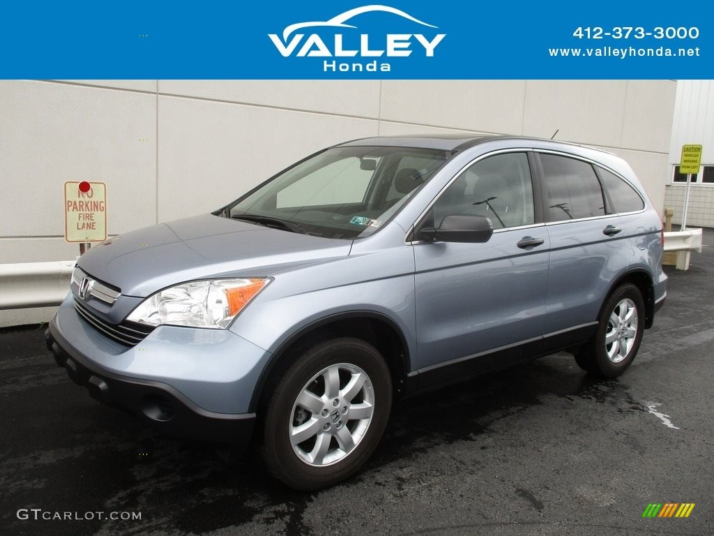 2008 CR-V EX 4WD - Glacier Blue Metallic / Gray photo #1
