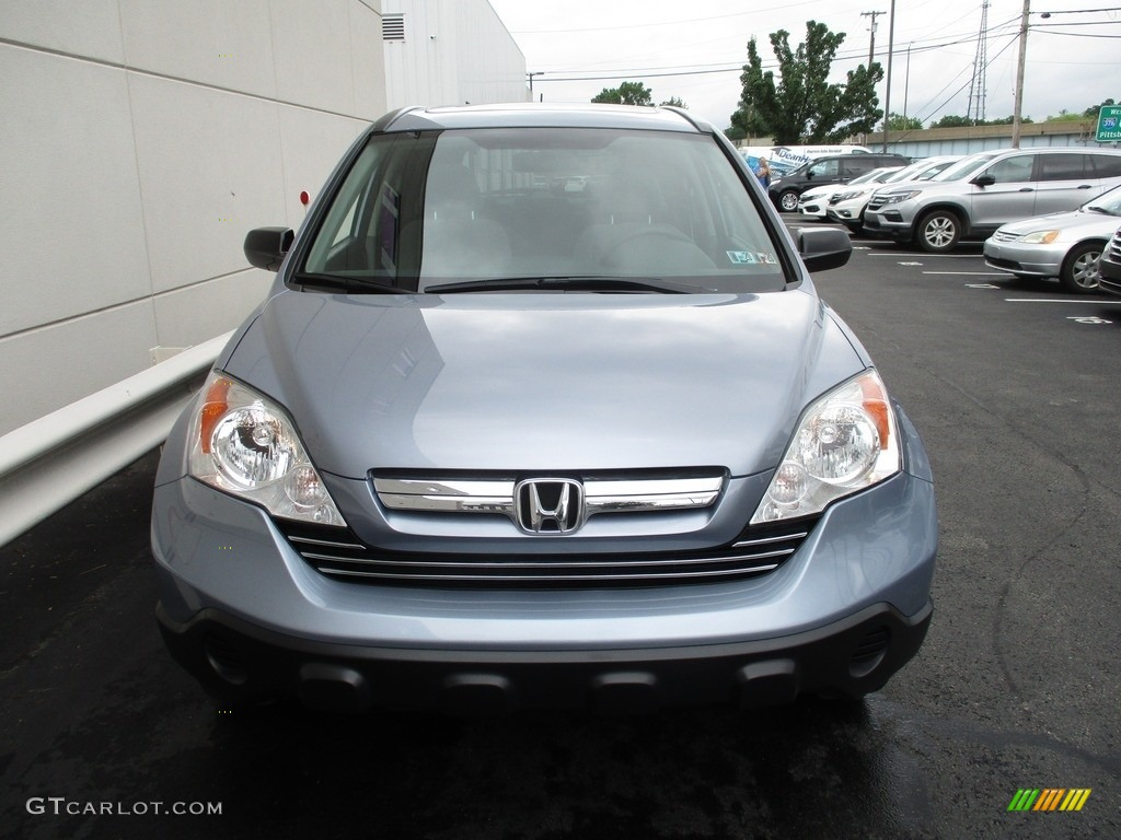 2008 CR-V EX 4WD - Glacier Blue Metallic / Gray photo #9