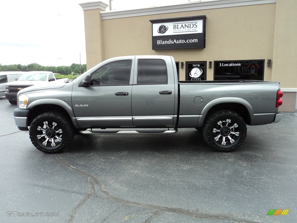 2008 Ram 1500 ST Quad Cab 4x4 - Mineral Gray Metallic / Medium Slate Gray photo #1