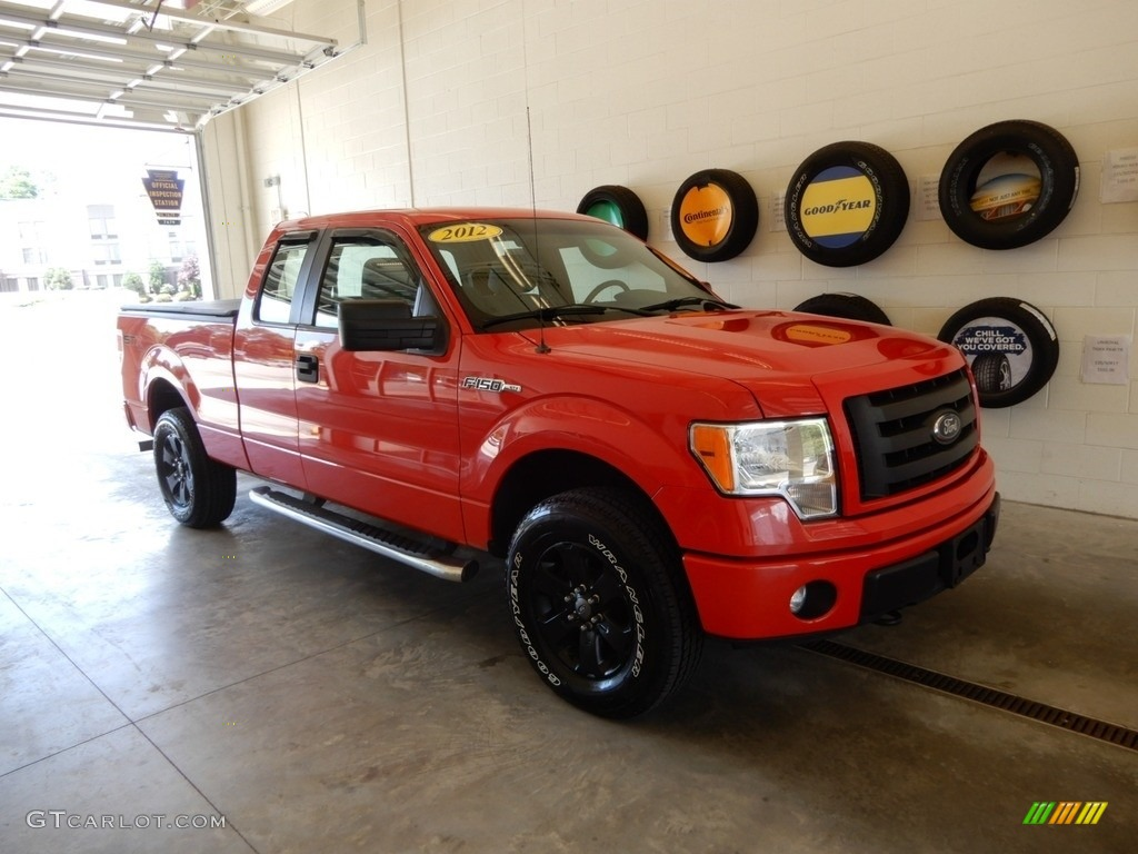 2012 F150 STX SuperCab 4x4 - Race Red / Steel Gray photo #1
