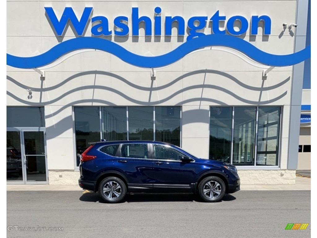 2019 CR-V LX AWD - Obsidian Blue Pearl / Gray photo #1