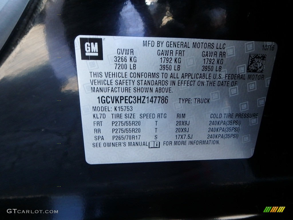 2017 Silverado 1500 Custom Double Cab 4x4 - Black / Dark Ash/Jet Black photo #15