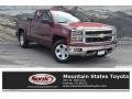 2014 Deep Ruby Metallic Chevrolet Silverado 1500 LT Double Cab 4x4  photo #1
