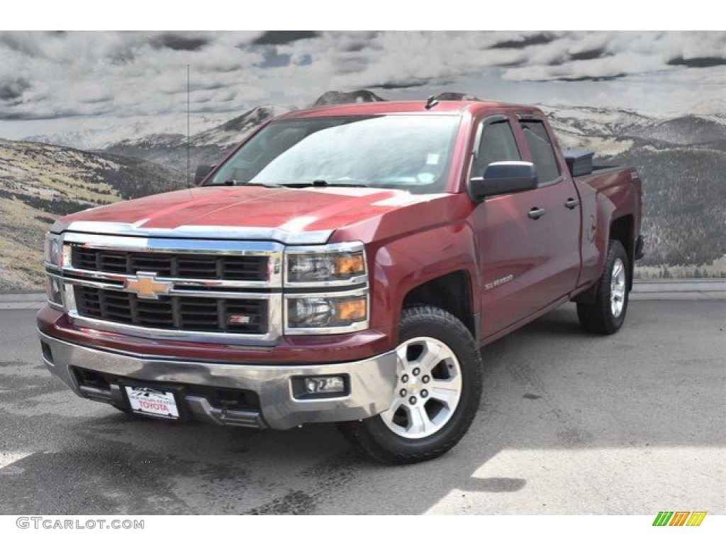 2014 Silverado 1500 LT Double Cab 4x4 - Deep Ruby Metallic / Jet Black/Dark Ash photo #5