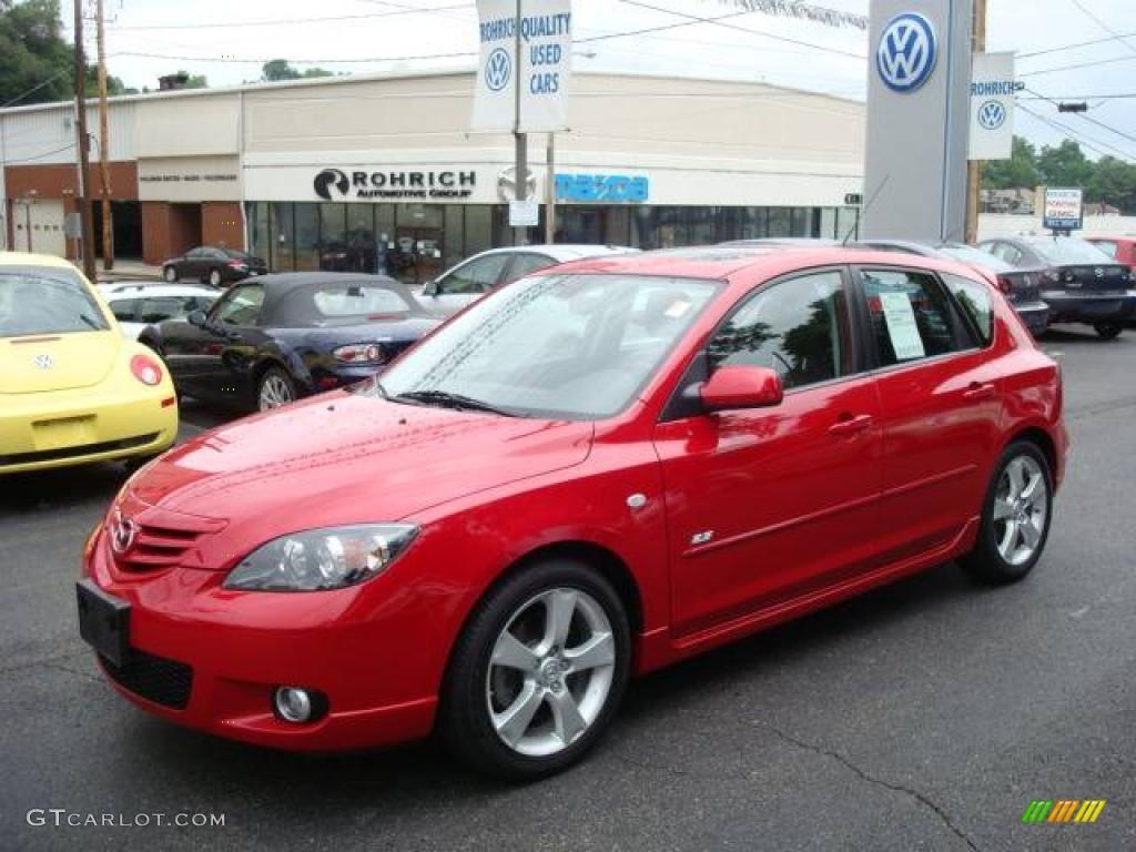 2006 Velocity Red Mica Mazda MAZDA3 s Hatchback #13360265 | GTCarLot