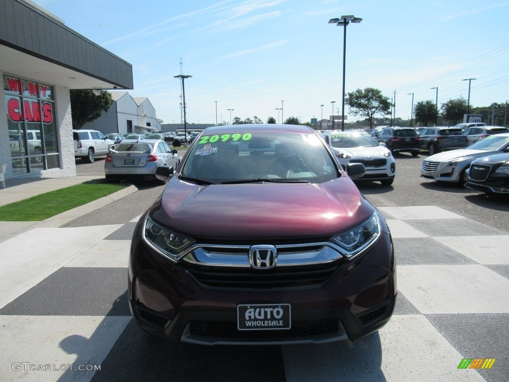 2018 CR-V LX - Basque Red Pearl II / Gray photo #2