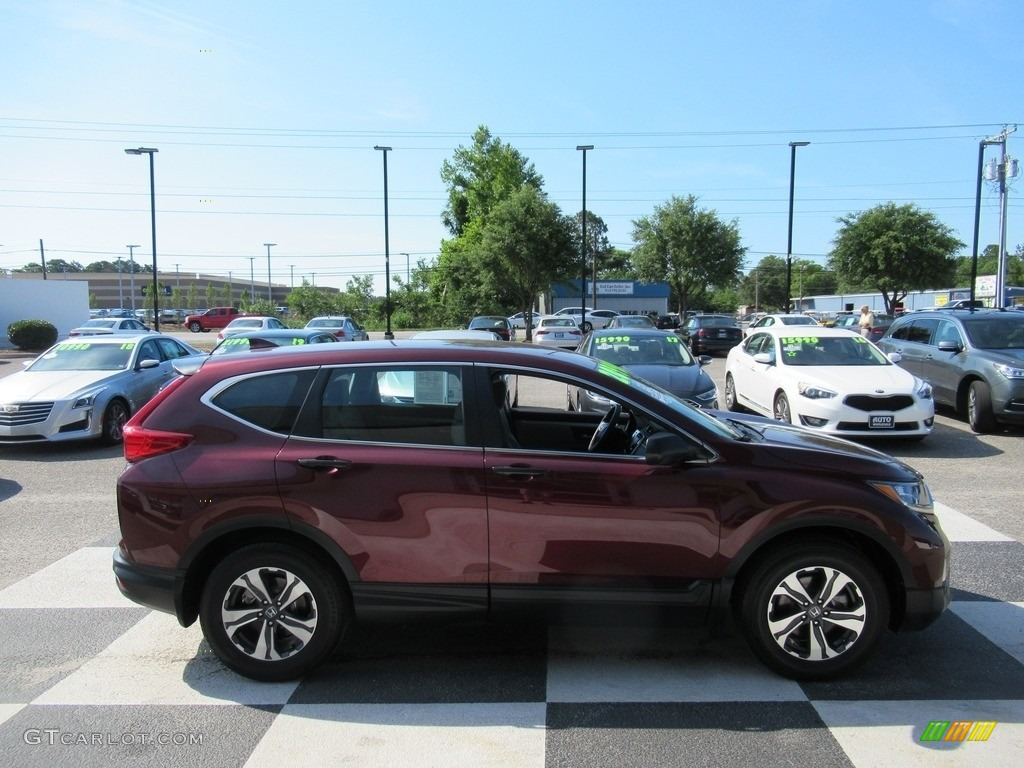 2018 CR-V LX - Basque Red Pearl II / Gray photo #3