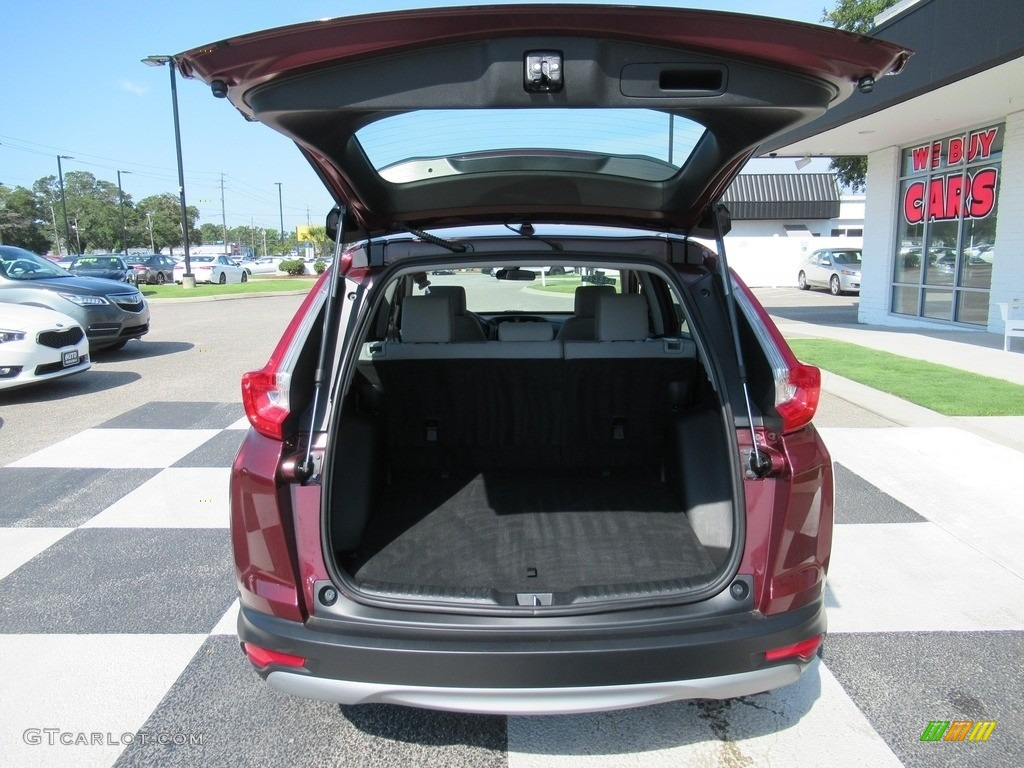 2018 CR-V LX - Basque Red Pearl II / Gray photo #5