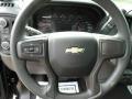 Jet Black Steering Wheel Photo for 2019 Chevrolet Silverado 1500 #134098009