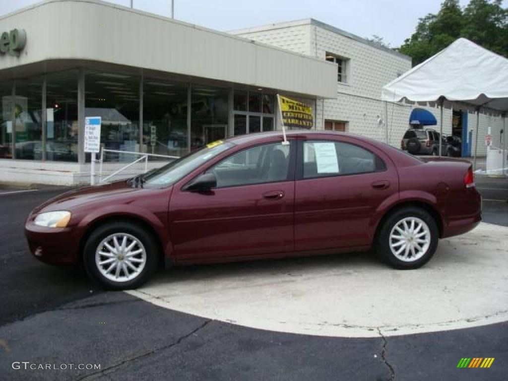 2002 Sebring LX Sedan - Dark Garnet Red Pearl / Dark Slate Gray photo #1