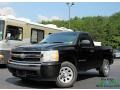 2008 Black Chevrolet Silverado 1500 LS Regular Cab 4x4 #134099214