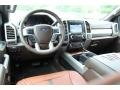 2019 Ford F250 Super Duty King Ranch Java Interior Dashboard Photo